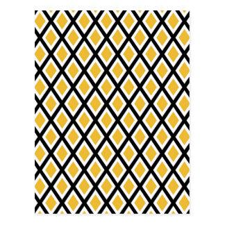 Modelo amarillo de los diamantes postal