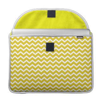 Modelo amarillo de los galones del zigzag fundas para macbooks