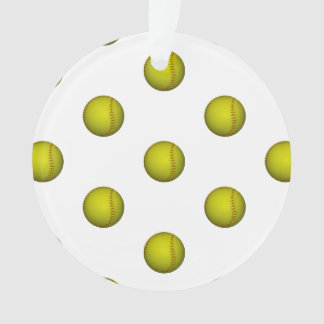 Modelo amarillo de neón del softball