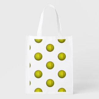 Modelo amarillo de neón del softball bolsa reutilizable