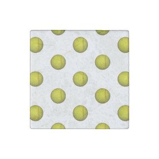 Modelo amarillo de neón del softball imán de piedra