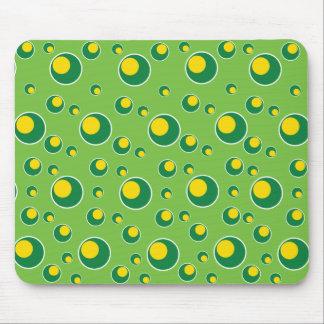 Modelo amarillo de neón Mousepad de los círculos d Tapete De Raton