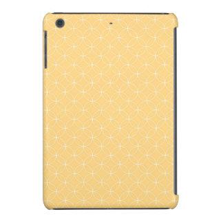 Modelo amarillo de oro de los círculos fundas de iPad mini