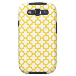 Modelo amarillo de Quatrefoil Galaxy S3 Carcasas