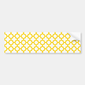 Modelo amarillo de Quatrefoil Pegatina Para Auto
