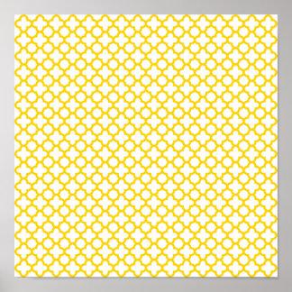 Modelo amarillo de Quatrefoil Póster