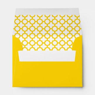 Modelo amarillo de Quatrefoil Sobres