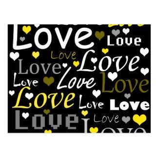 Modelo amarillo del amor tarjeta postal