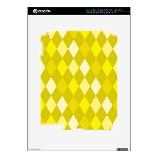 Modelo amarillo del argyle iPad 3 pegatinas skins