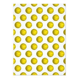 """Modelo amarillo del baloncesto invitación 5.5"""" x 7.5"""""""
