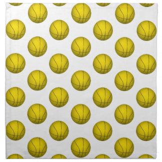 Modelo amarillo del baloncesto servilletas de papel