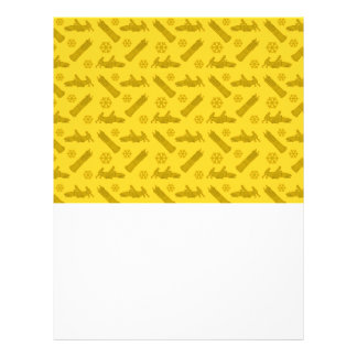 Modelo amarillo del bobsled tarjetas publicitarias