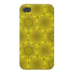 Modelo amarillo del círculo iPhone 4/4S carcasas