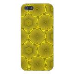 Modelo amarillo del círculo iPhone 5 funda