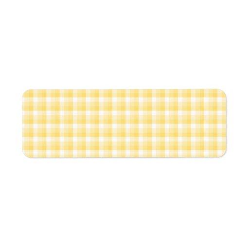 Modelo amarillo del control de la guinga etiqueta de remitente