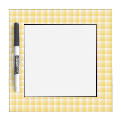 Modelo amarillo del control de la guinga pizarras blancas de calidad