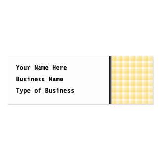 Modelo amarillo del control de la guinga tarjetas de visita mini