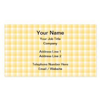 Modelo amarillo del control de la guinga tarjetas de visita