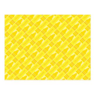 Modelo amarillo del creyón de la diversión postales