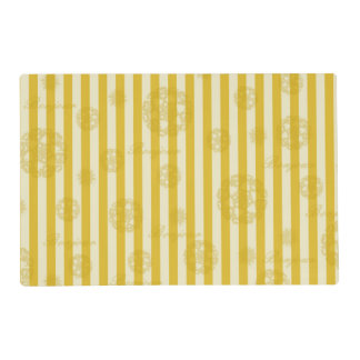 Modelo amarillo del damasco de París del oro de Tapete Individual