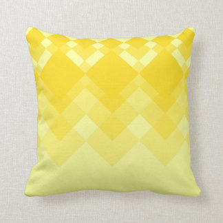 Modelo amarillo del diseño cojín decorativo