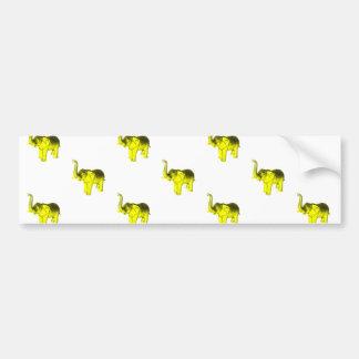 Modelo amarillo del elefante pegatina de parachoque