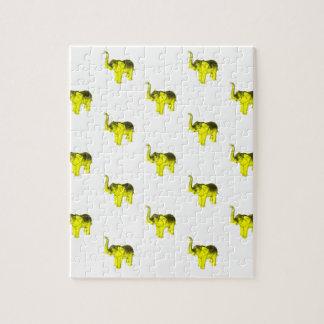 Modelo amarillo del elefante puzzle