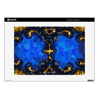 Modelo amarillo del extracto del negro azul skins para 38,1cm portátiles