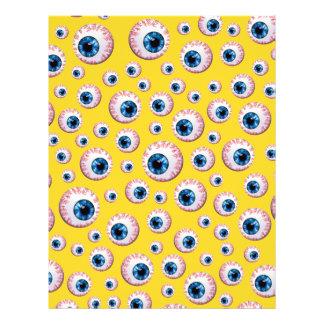 Modelo amarillo del globo del ojo tarjetas informativas