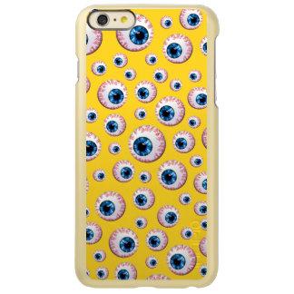 Modelo amarillo del globo del ojo