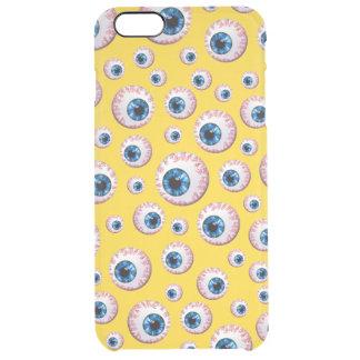 Modelo amarillo del globo del ojo funda clearly™ deflector para iPhone 6 plus de unc
