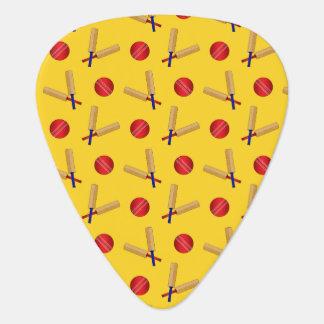 modelo amarillo del grillo uñeta de guitarra