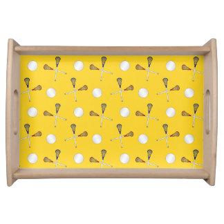 modelo amarillo del lacrosse bandejas