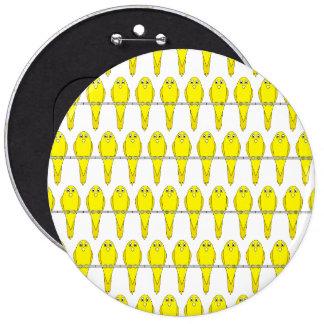 Modelo amarillo del pájaro. Las Canarias Pin