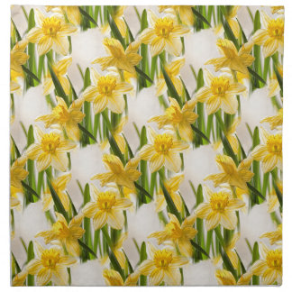 Modelo amarillo del papel pintado del narciso servilletas de papel