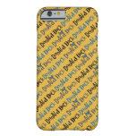 Modelo amarillo del pato Donald Funda Para iPhone 6 Barely There