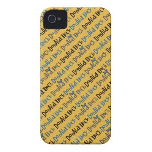 Modelo amarillo del pato Donald iPhone 4 Case-Mate Carcasa