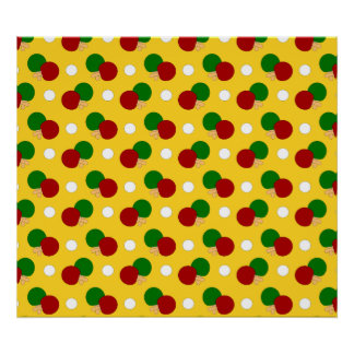 Modelo amarillo del ping-pong impresiones