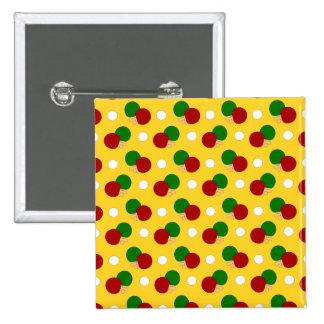 Modelo amarillo del ping-pong pin cuadrada 5 cm