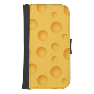 Modelo amarillo del queso fundas billetera para teléfono