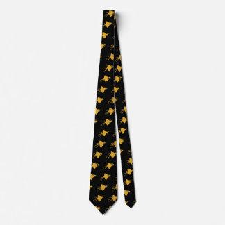Modelo amarillo del reptil corbata