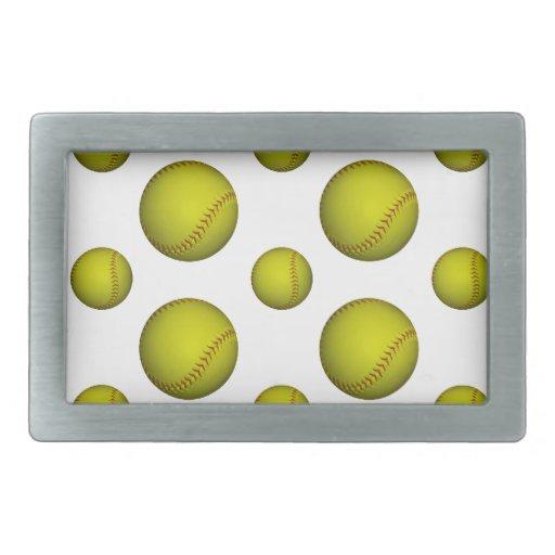 Modelo amarillo del softball/del béisbol hebillas de cinturon