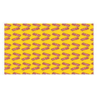 Modelo amarillo del tocino plantilla de tarjeta de visita