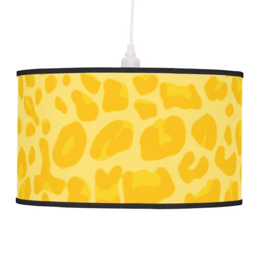 Modelo amarillo en colores pastel del estampado le lámpara de techo