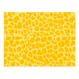 Modelo amarillo en colores pastel del estampado le postal