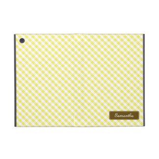 Modelo amarillo en colores pastel lindo de la guin iPad mini funda