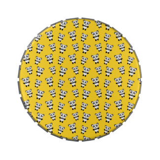 Modelo amarillo lindo de la panda frascos de dulces