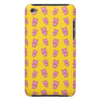 Modelo amarillo lindo del cerdo barely there iPod cárcasas