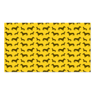 Modelo amarillo lindo del dachshund tarjetas de visita