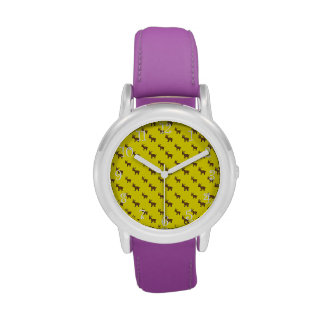 Modelo amarillo lindo del reno reloj de mano